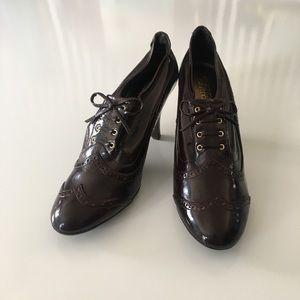 3/$60 Franco Sarto Deer heel oxford leather brown